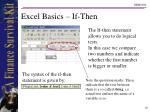 excel basics if then
