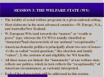 session 3 the welfare state ws
