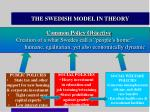 the swedish model in theory
