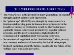 the welfare state advance 1