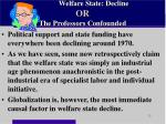 welfare state decline or the professors confounded