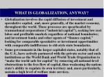 what is globalization anyway