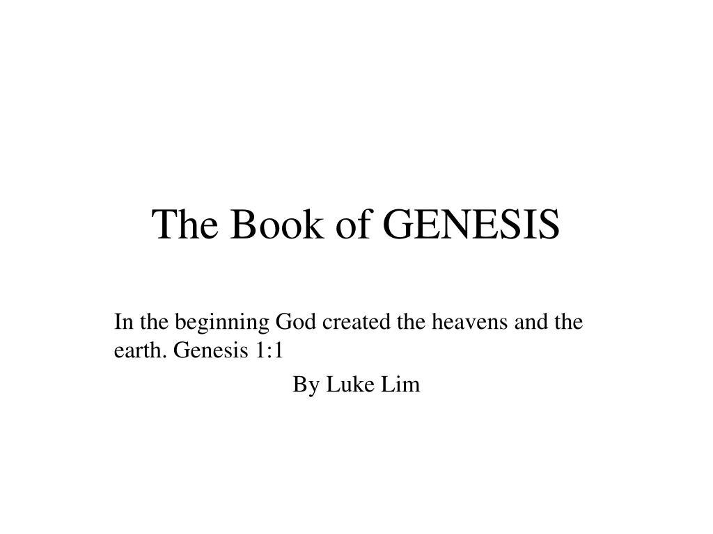 the book of genesis l.