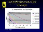 ao performance on a 50m telescope