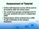 assessment of tutorial