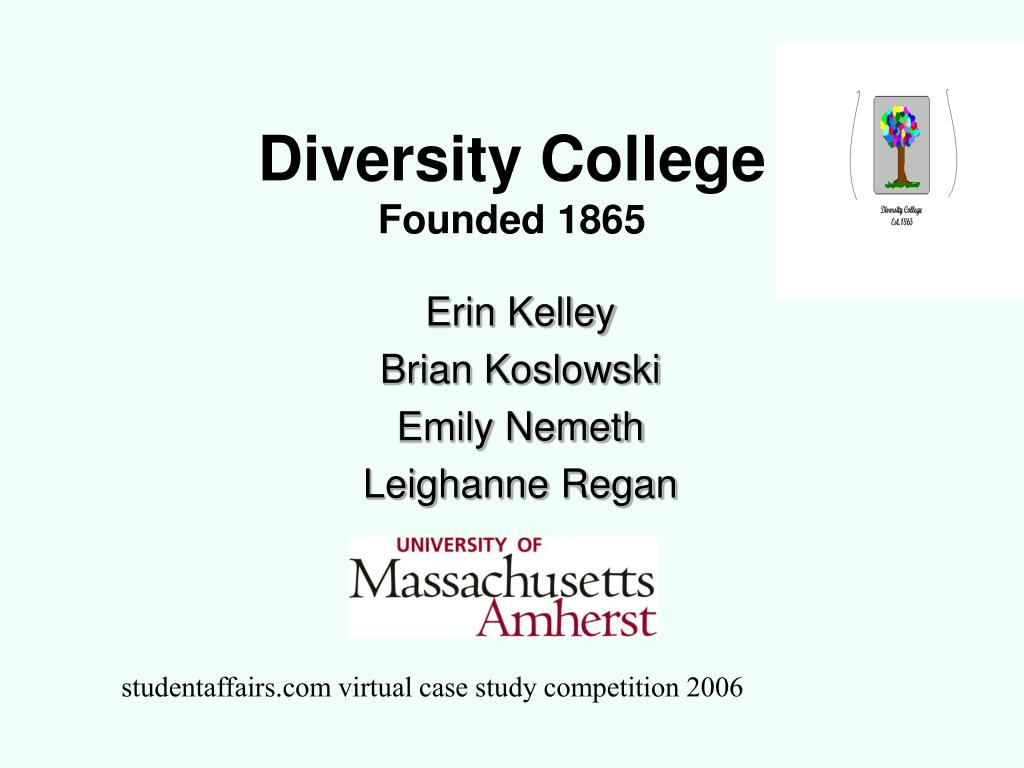 diversity college founded 1865 l.