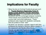 implications for faculty