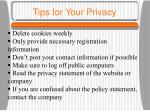 tips for your privacy