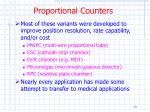 proportional counters13