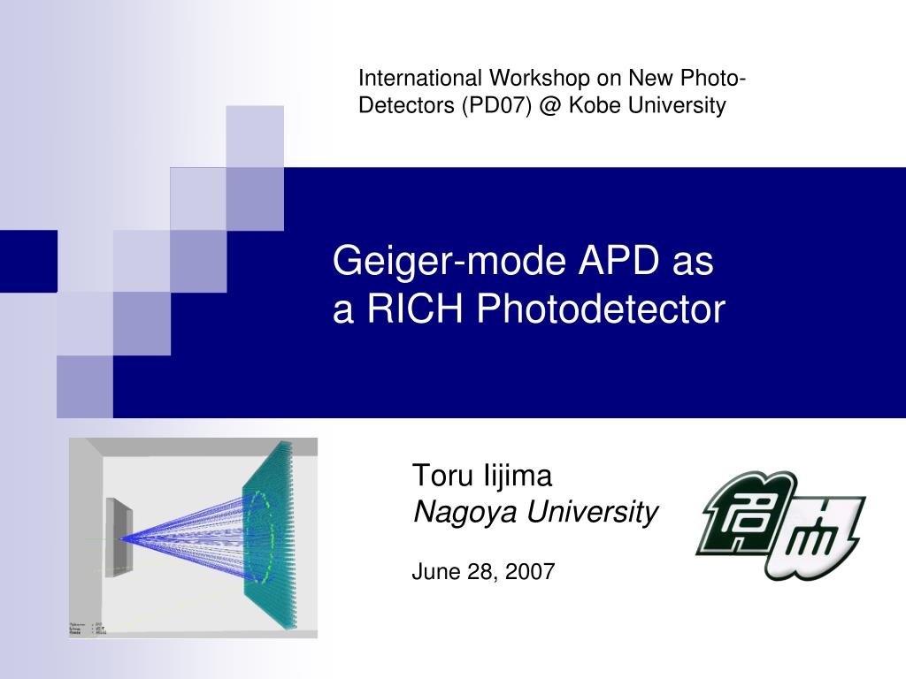 geiger mode apd as a rich photodetector l.