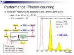 performance photon counting