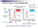performance time resolution
