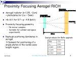 proximity focusing aerogel rich