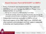 board decision point gf b18 dp7 on amfm