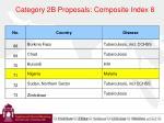 category 2b proposals composite index 8