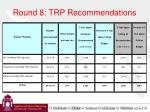 round 8 trp recommendations