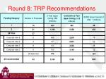 round 8 trp recommendations9