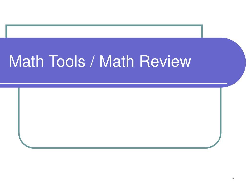 math tools math review l.