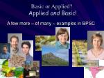 basic or applied applied and basic