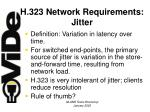 h 323 network requirements jitter