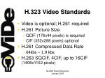 h 323 video standards