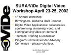 sura vide digital video workshop april 23 25 2002