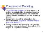 comparative modeling11