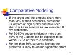 comparative modeling12