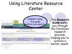 using literature resource center40