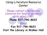 using literature resource center42