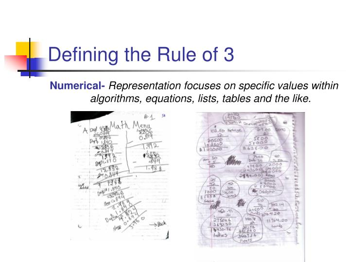 Defining the rule of 33