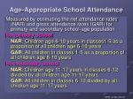 age appropriate school attendance