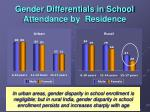 gender differentials in school attendance by residence