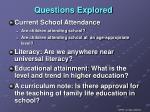 questions explored