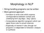 morphology in nlp9