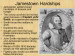 jamestown hardships