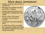 more about jamestown