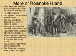 more of roanoke island