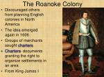 the roanoke colony