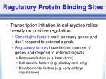 regulatory protein binding sites