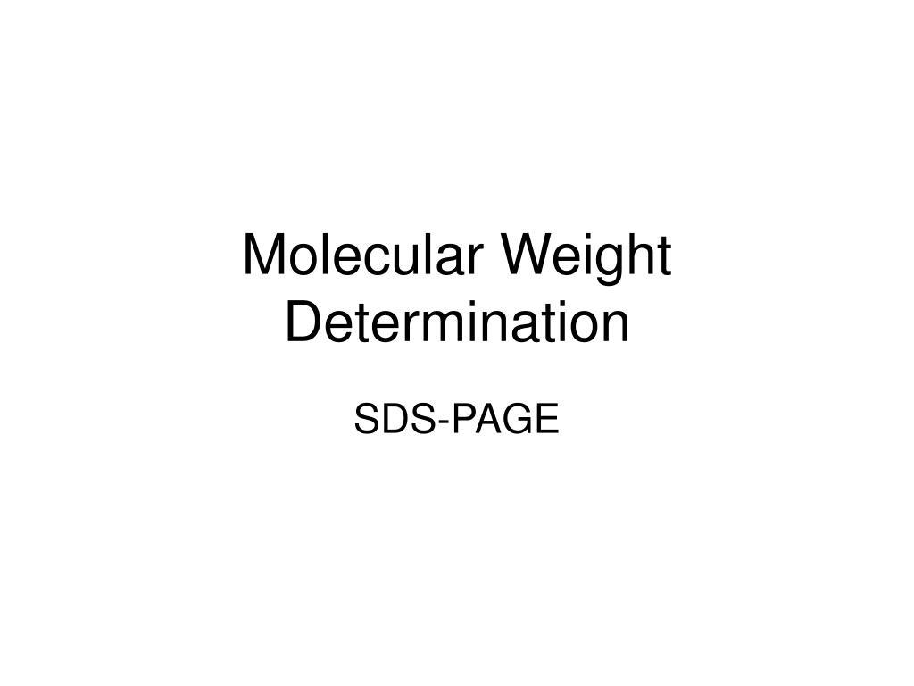 molecular weight determination l.