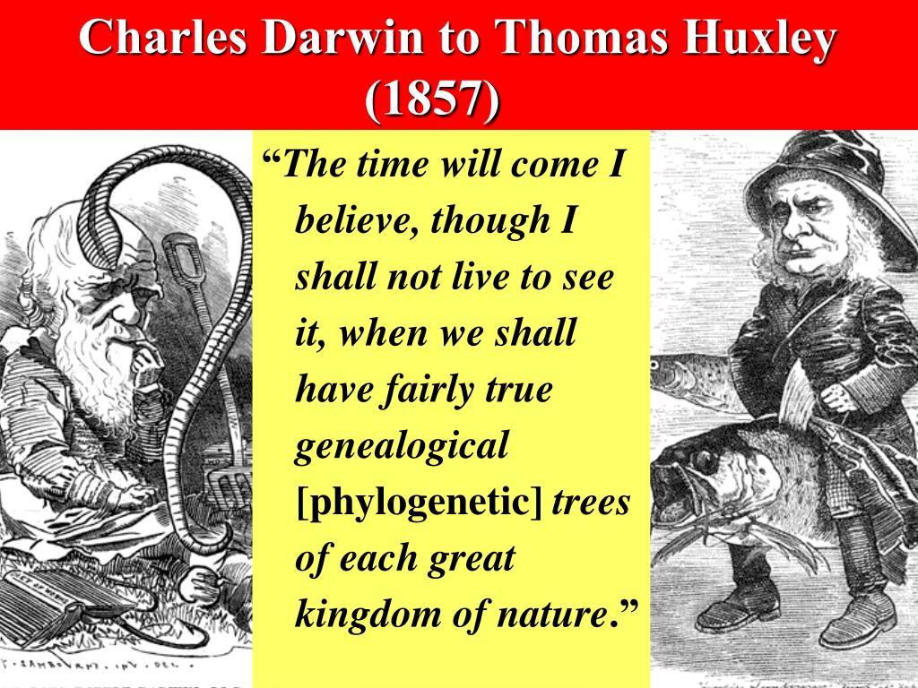 Charles Darwin to Thomas Huxley (1857)
