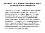 shroud of turin an illustrates of the conflict between belief and skepticism