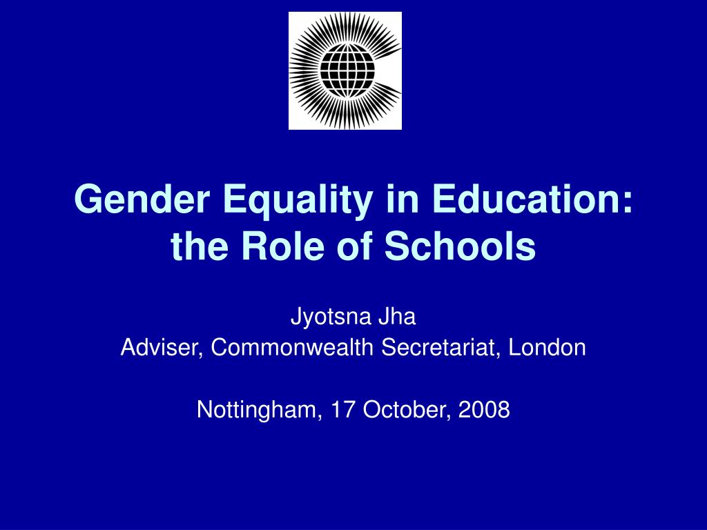 gender equality in education the role of schools l.