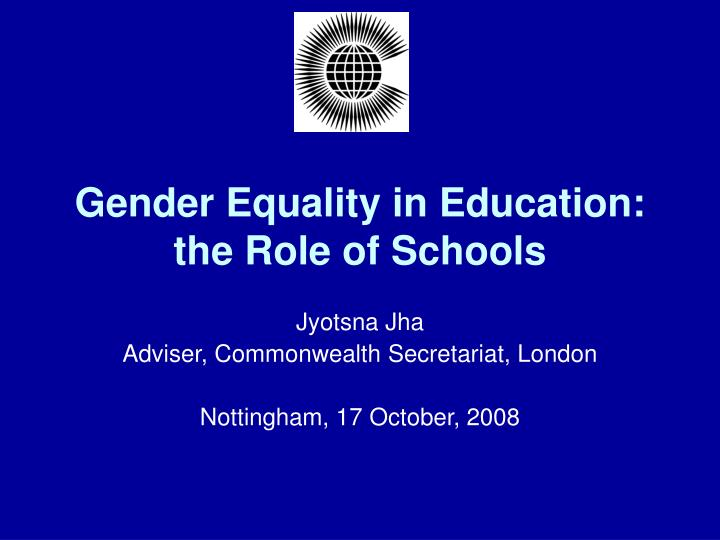 gender equality in education the role of schools n.