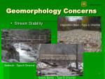geomorphology concerns8