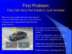 first problem cars get very hot inside in just minutes