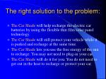 the right solution to the problem13