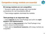 competitive energy markets are essential
