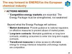 the way forward to energyze the european chemical industry
